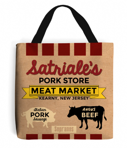 Satriales Pork Store Meat Market Sopranos Design Tote Shopping Bag